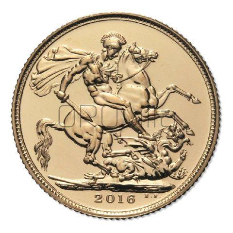 Sterlina d'oro Elisabetta II 2016