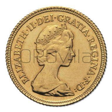Sterlina d'oro Elisabetta II coronata giovane