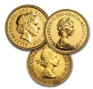 Sterlina oro nuovo conio Elisabetta II (anni misti)