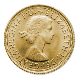 Sterlina d'oro Elisabetta II fiocco