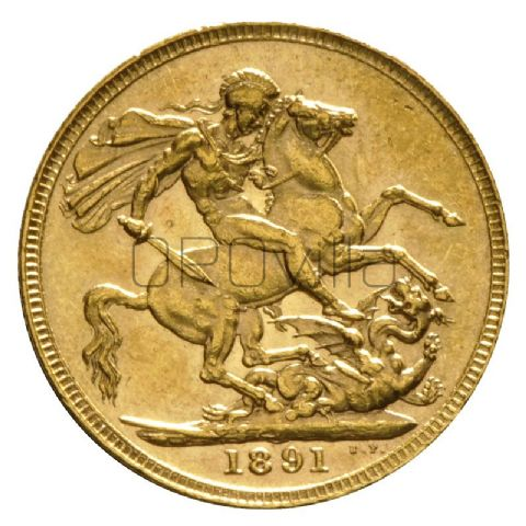 Sterlina d'oro Vittoria coronata