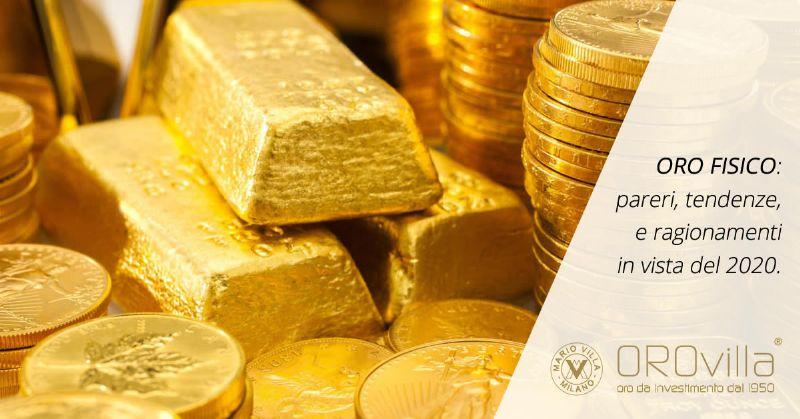 10 ragionamenti sull'oro in vista del 2020