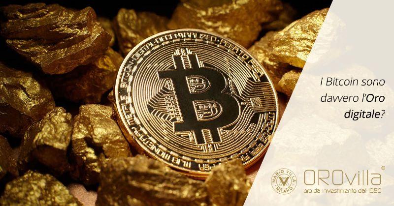 I bitcoin sono davvero l'oro digitale?