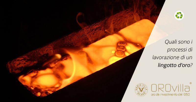 Come vengono prodotti i lingotti d'oro?