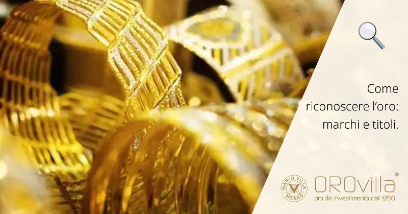 Titoli e marchi dell'oro