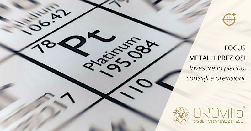 Non solo oro: investire in platino, si o no?
