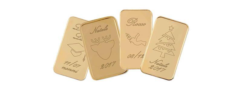 Molto Lingotti d'oro personalizzati : idee regalo battesimo e compleanno ZK17