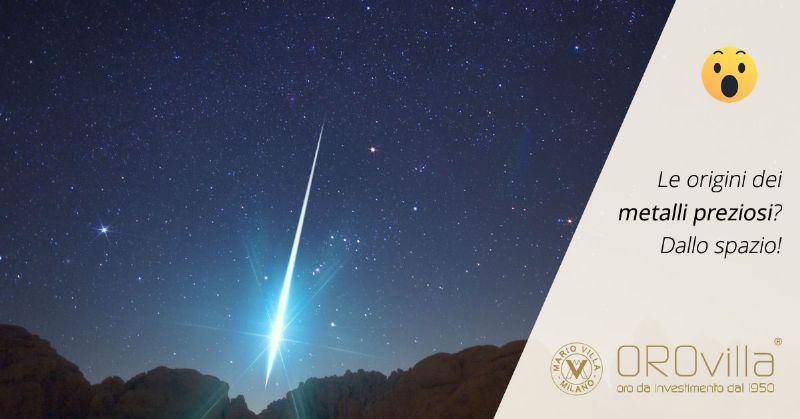 Oro e platino: metalli preziosi regali delle stelle