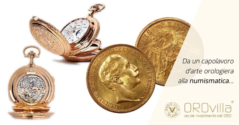 Da un capolavoro d'arte orologiera alla numismatica: il marco tedesco