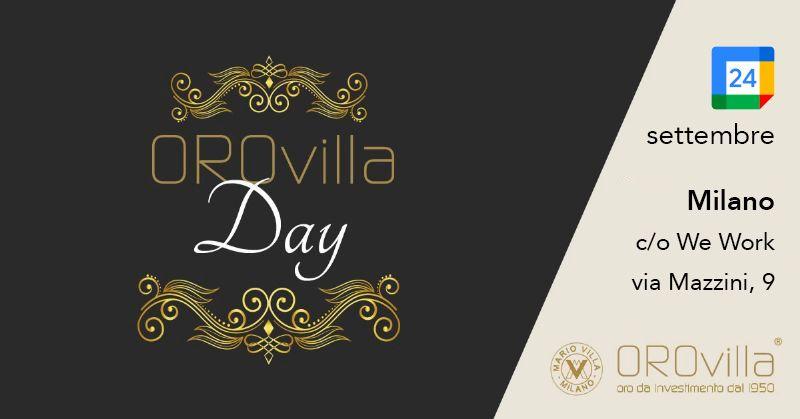 Orovilla Day 2021 | Torniamo ad incontrarci dal vivo!