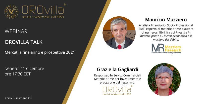 Mercati a fine anno e prospettive 2021